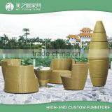 China wholesale unique egg shaped stackable rattan outdoor wicker patio furniture of rattan