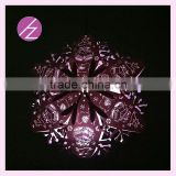 3D latest design christmas decoration star laser cut pearl paper craft