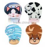 Cartoon Practical Lovely Animal Skid Resistance Memory Foam Comfort Wrist Rest Support Mouse Pad Mice Mat Dairy Cow Cattle Monke