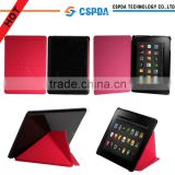Factory price slim hot press pu leather case for new version Kindle Fire HD 7 2