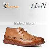 Good quality men leather boots for new style