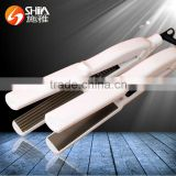 Hot selling LED tem PTC heater flat iron infrared styler hair straightener with teeth with good prices SY-858