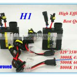 Perfect!Defeilang Best Price High Quality HID xenon bulb H1 with super slim ballast AC/DC 12v 24v 35w 55w 6000k 8000k