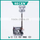 China manufacture 4*1000w max 4.5m scalable high mast ultra-bright fire truck light tower