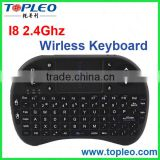 Hot Selling TOPLEO I8 Mini Wirless Keyboard Air Mouse for PC, Pad, Andriod TV Box, Google TV Box