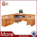 wooden beech color good price mdf office computer table F879