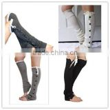Black Friday color Button down Leg warmers lace boot cuff socks legwarmers womens knit leggings at stock