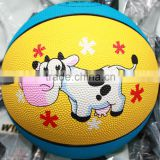 cute cow custom small rubber basketballs for kids