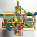 Hot selling 2016 New 5 Rope Quoits Wooden Ring Toss Game Hot selling 2016 New 5 Rope Quoits Wooden Mixed color Garden toys Game
