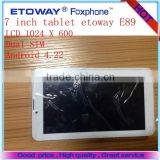 Tablet PC etoway E89 7 inch 3g tablet pc best 7 inch tablet pc android low cost 3g tablet pc phone