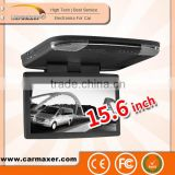 Digital screen 15.6 inch roof mount bus monitor supported USB/SD/TV/IR/FM/Wireless game