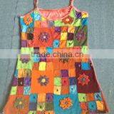 cotton jersey flowery and peace multy layer cutout design dress adn hand embroidery patch price 650rs $7.92