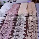 New arrival french chemical lace ployester lace trim wholesale for bridal lace trim wide:8cm
