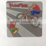 self magnetic small mat with four color printing .double side magnetized,soft magnect.all kinds of lamination