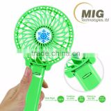 Portable Folding Hand Held Pocket Fan Mini USB Operated Battery Rechargeable