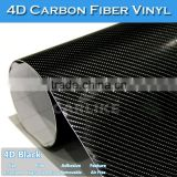 Black 4D Carbon Wrap Film For Cars/ Air Free Colored Carbon Fiber Manufacturer 5FTx98FT 1.52x30M