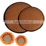 2016 A-bomb round Rattan Pet mat summer sleeping mat cooling pet mat can match with our pumpkin pet bed
