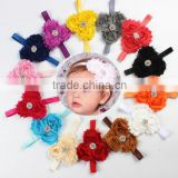 Fashion Infant Toddler Baby Headbands girl flower with rhinestone kids hair accessories                                                                         Quality Choice
