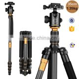 DHL shipping Q666C Pro Carbon Fiber Tripod & Monopod Q-666C For DSLR Digital DV Camera Portable Photo stand carry bag & Ballhead                                                                         Quality Choice