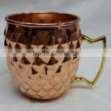 Moscow Mule Copper Mug for cocktail, Vodka, Beverages, Solid Copper, FDA, Food Grade Approved