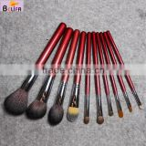 China Traveling Makeup Brush Set 10pcs Mini Essential Cosmetic Brushes with Cup Holder                                                                         Quality Choice