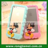 Soft Cute 3D Minnie mickey silicone gel skin cover for Iphone case frame                                                                         Quality Choice