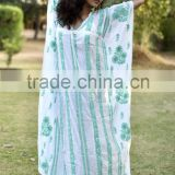 KAFTAN RESORT CASUAL LOOSE BOHO BATHING GOWN BEACH COVER UP KAFTAN CAFTAN
