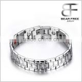 Stainless Steel Magnetic Bracelets, Negative Ions balance Germanium Infrared Ray bracelet