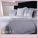 LinenPro Cheap Whoelsale 300TC Stripe White Egyptian Cotton Bed Linen for Hotels                                                                         Quality Choice
