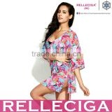 RELLECIGA Digital Floral Print Ladies Beach Dress Cover up