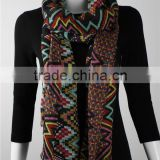 In Stock Polyester Chevron Printed Scarf