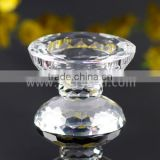New Design k9 Crystal Candle Holder With Pillar Shape China Factory Directly Supply
