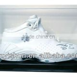 ACRYLIC BASKETBALL SHOE DISPLAY CASE HOLDER BLACK BASE