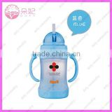 popular good design blue color glass baby bottles