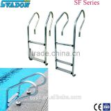 Factory produce swimming Pool SS304 4 steps pool ladder with safety rail