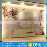 Beautiful Flowers Fusing Art Glass Decoration Pieces For Wall