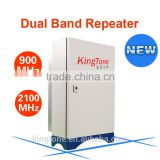 2g 3g Kingtone 900/2100 dual band repeater 40dBm wireless networking equipment dual band repeater 900 2100MHz power rf repeater