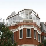 Made in China Guangdong manufacturer OEM Sun Room/High quality glass sun room with ISO9001