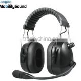 Two Way Radio Walkie Talkie Noise Canceling Aviation Air Band Pilot Headset for Motorola ICOM Kenwood Vertex Sepura Cassidian