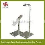 Custom floor standing metal shoes display rack/stainless steel bag holder