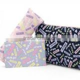 Fresh letters waterproof promotional secries cosmetic bag / pencil / paper towel package bag