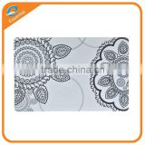 Customized printing vintage logo on PVC PP polypropylene plastic table placemat