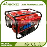 Uk Plugs 6.5hp 2.5kVA Honda Tech Petrol Generator AC 3 Phase 3 x 230V 1x 400V