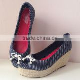Women wedge shoes women sandal shoes rope soled shoes espadrille
