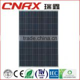 China Ruixin Group 156*156 cell poly solar panel max power 225watt factory direct prices with TUV CE IEC 20 years Guarantee