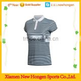 custom women striped badminton sports jerseys polo shirts