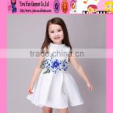 2016 sweet baby girls kids party wear dresses flower embroidered summer kids prom dresses