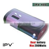 iPV400 200Watt mod hot selling with new technology with 2pcs 18650 batteries IPV5 200W box mod yihi sx350 chip sx mini