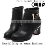 2016 lastest design heel ankle boots for women PH4034
