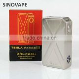 Hottest Tesla Invader III 240W Box Mod Original Invader 3 Electronic Cigarette Vape Mods fit dual 18650 Battery
